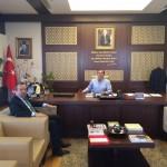 Başkan Şakir Kaymak Pursaklar Belediye Başkanı Selçuk Çetin'i Ziyaret Etti