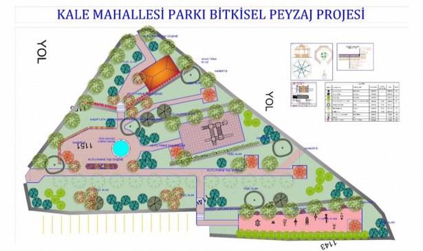 Kale Mahallesi Parkı Bitkisel Peyzaj